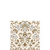 Silver & Gold Damask Beverage Napkins 16ct