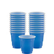 Royal Blue Plastic Cup Shot Glasses 30ct