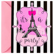 Glitter Paris Invitations 8ct
