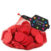 Small Red Chocolate Coins 125pc