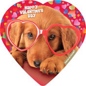 Cuddly Yorkie Puppy Heart Box of Chocolates 4pc