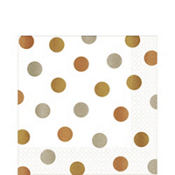 Metallic Polka Dot Lunch Napkins 16ct