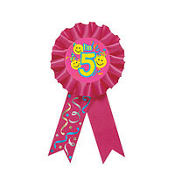 5th Birthday Smile Award Ribbon