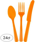 Orange Cutlery Set 24ct