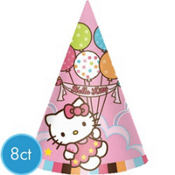 Hello Kitty Party Hats 8ct