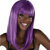 Classic Beauty Purple Wig