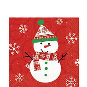 Very Merry Snowman Lunch Napkins 20ct