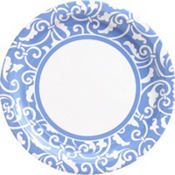 Pastel Blue Ornamental Scroll Party Supplies