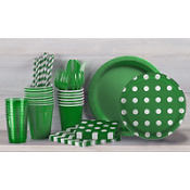 Festive Green Polka Dot Party Supplies
