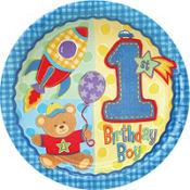 Hugs & Stitches Boy's 1st Birthday Party Supplies