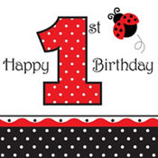 Fancy Ladybug 1st Birthday Party Supplies
