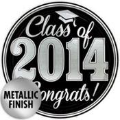 Silver Congrats Grad Party Supplies