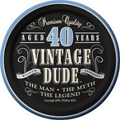 Vintage Dude 40th Birthday Party Supplies