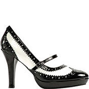 Black and White Flapper Shoes