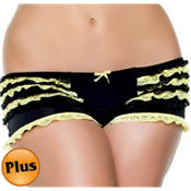 Adult Yellow Ruffled Boyshorts Plus Size