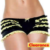 Adult Yellow Ruffled Boyshorts