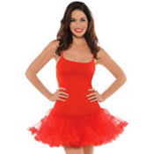 Adult Red Christmas Petticoat Dress