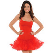 Adult Christmas Red Petticoat Dress