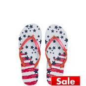 Child Stars & Stripes Flip Flops