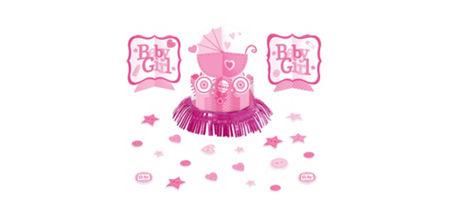 girl baby shower table decorating kit 23pc celebrate