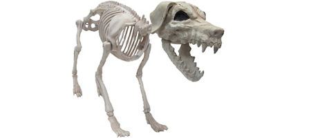 quick shop giant poseable skeleton dog