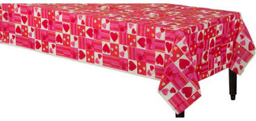 Candy Hearts Valentine's Day Table Cover
