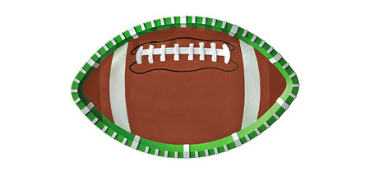 Textured Football Oval Platter