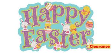 Glitter Happy Easter Cutout
