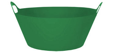 Green Round Plastic Party Tub