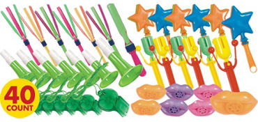 Colorful Plastic Noise Makers 40ct