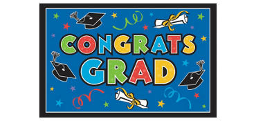 Colorful Vinyl Graduation Party Sign 78in