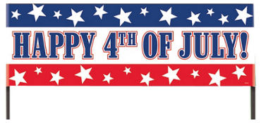Happy 4th of July Lawn Banner 48in