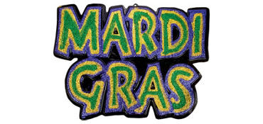 3D Glitter Mardi Gras Decoration