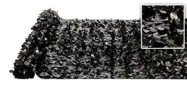 Black Vinyl Floral Sheeting 15ft