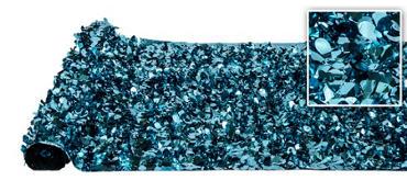 Turquoise Metallic Floral Sheeting 15ft