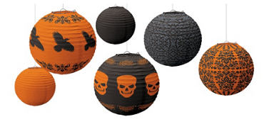 Assorted Halloween Paper Lanterns 6ct