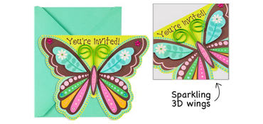 Premium Boho Butterfly Invitations 8ct