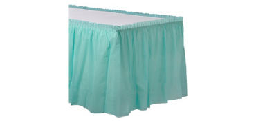 Robin's Egg Blue Plastic Table Skirt