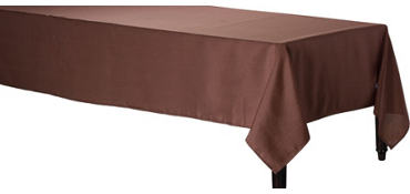 Chocolate Brown Fabric Tablecloth