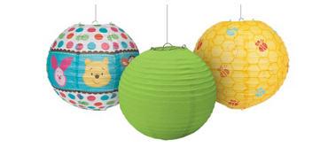 Winnie the Pooh Paper Lanterns 3ct