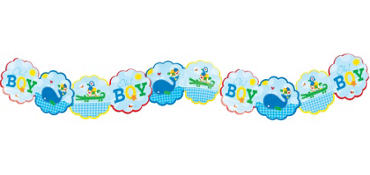 Ahoy Baby Boy Printed Garland 8ft
