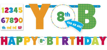 Boy Birthday Banner 10ft