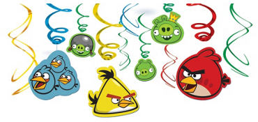 Angry Birds Swirl Decorations 12ct