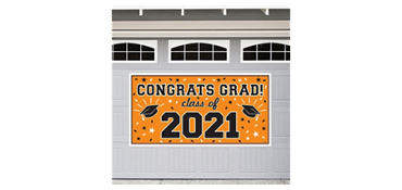 Orange 2013 Graduation Banner 65in
