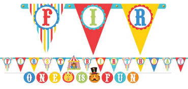 1st Birthday Fisher-Price Circus Banners 2ct