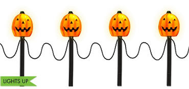 Light-Up Pumpkin Yard Stakes 4ct