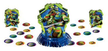 Teenage Mutant Ninja Turtles Table Decorating Kit 23pc Plus Confetti