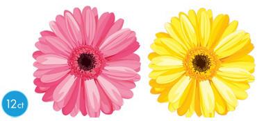 Spring Daisy Cutouts 12ct