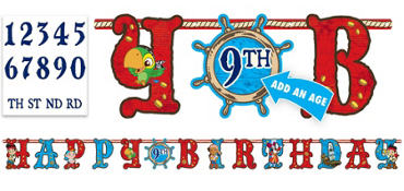 Jake and the Never Land Pirates Birthday Banner 10ft