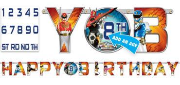 Power Rangers Birthday Banner 10ft